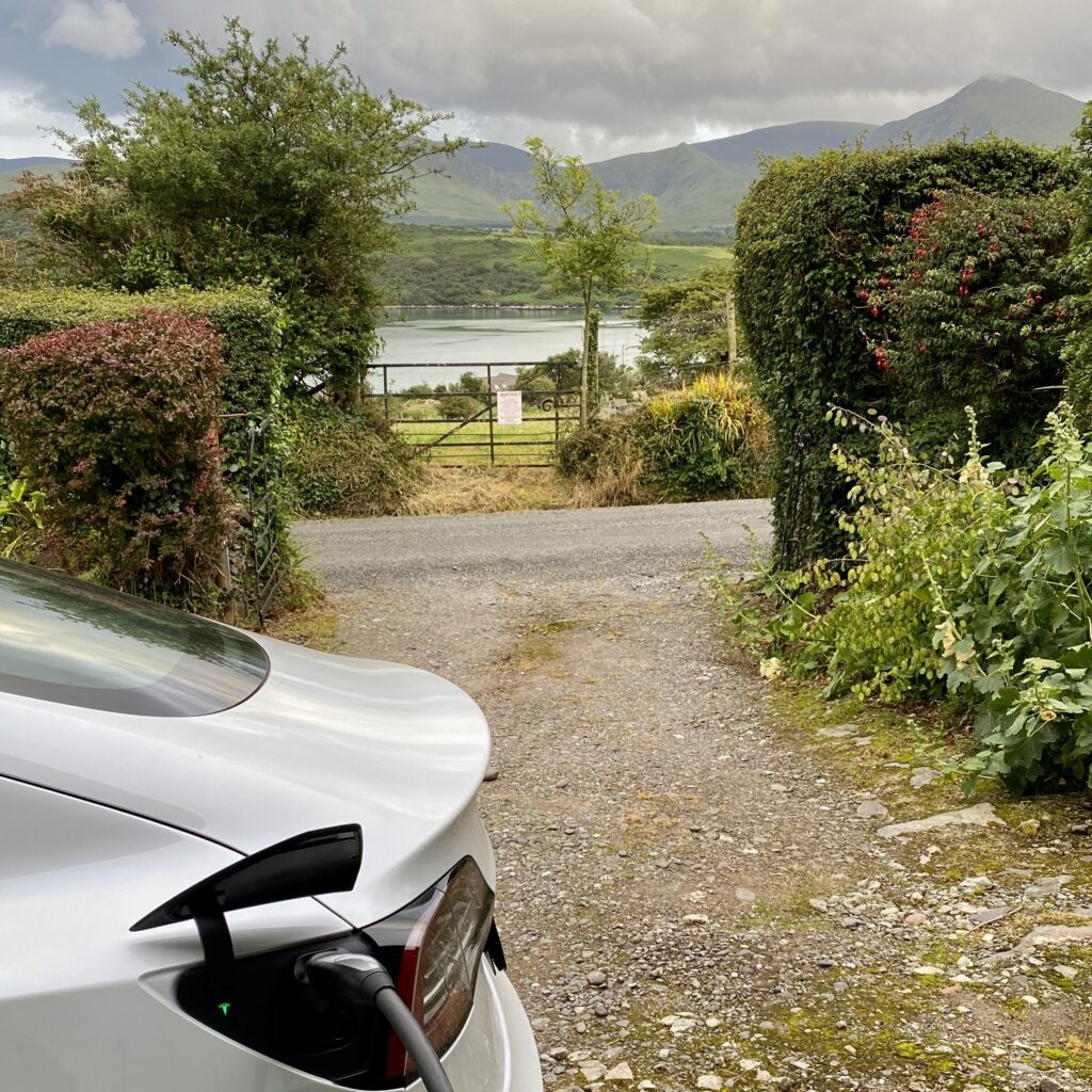 A 7kW Type 2 Electric Vehicle (EV) charger is available to our guests at Wild Atlantic House upon request.